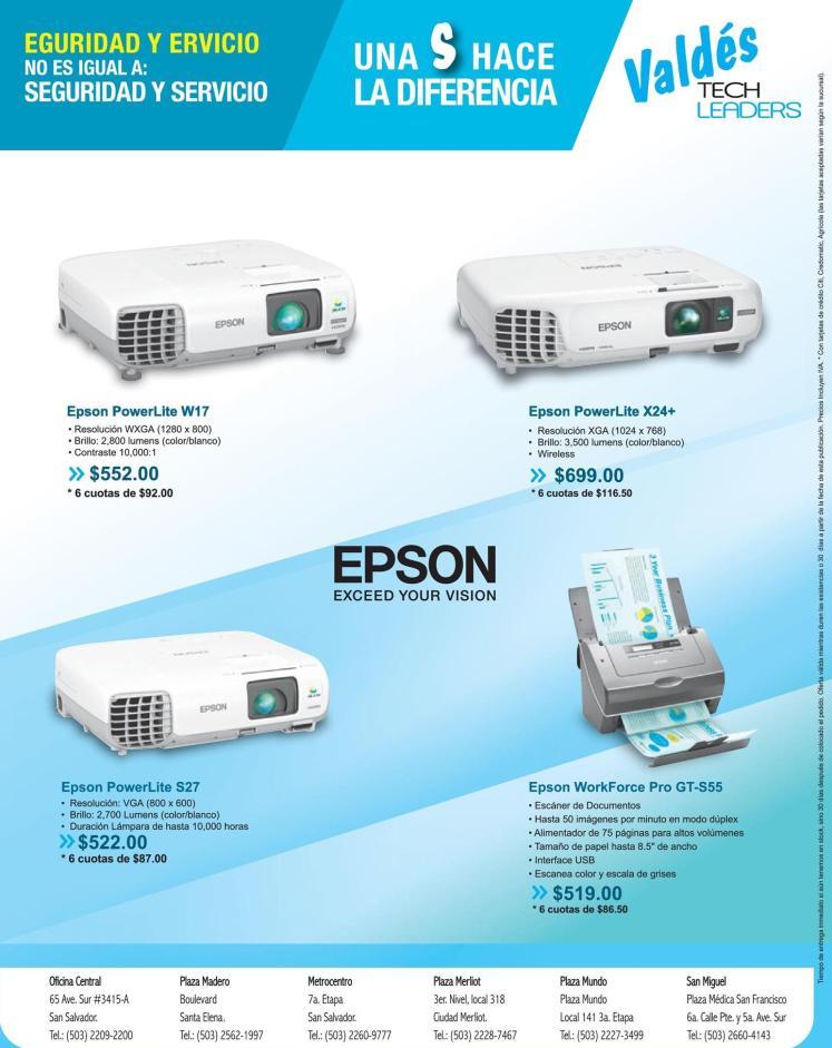 Soluciones para empresa y negocios PROYECTORES EPSON