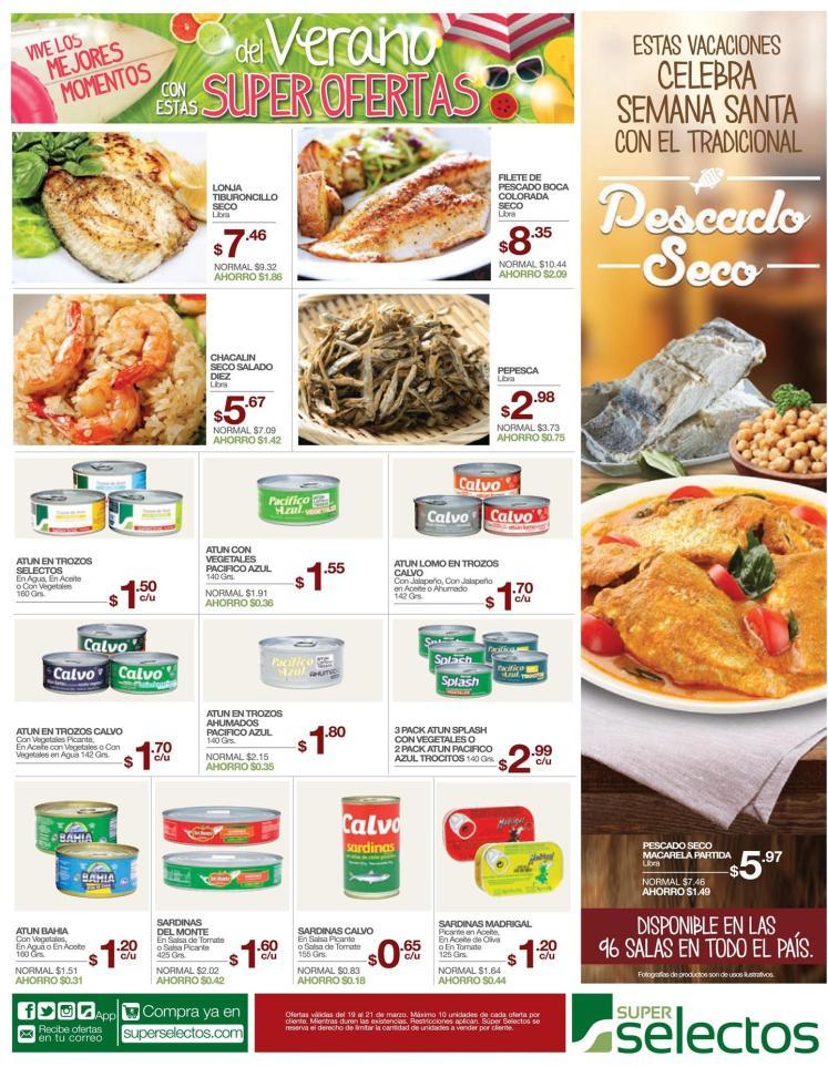 Todo los ingredientes para cocinar tu pescado seco en semana santa