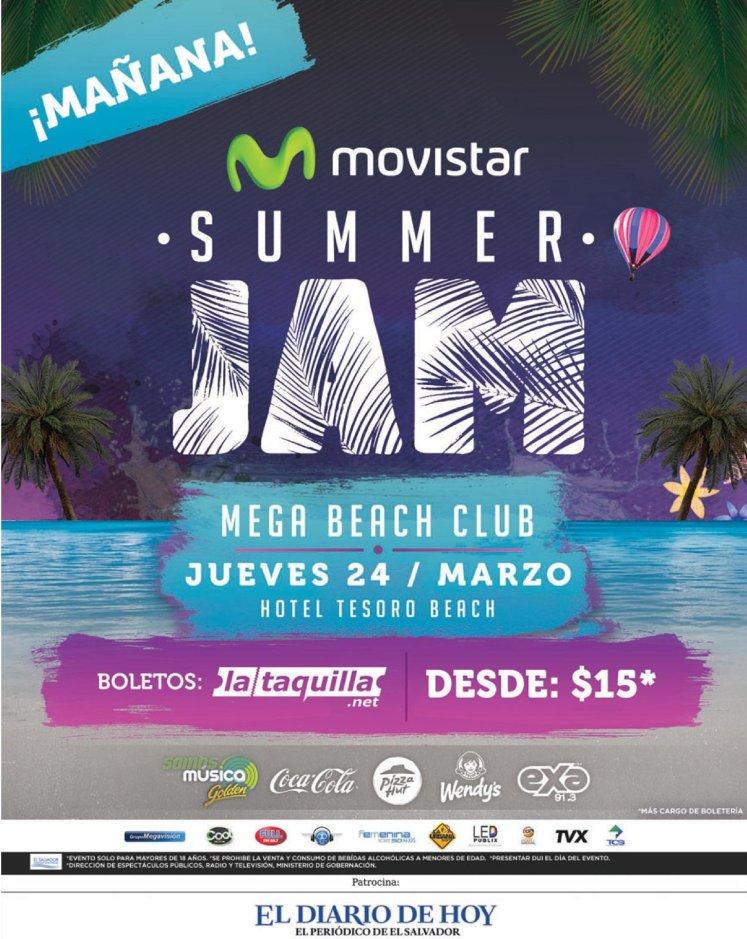 Tomorrow MeGA beach club party MOVISTAR summer jam