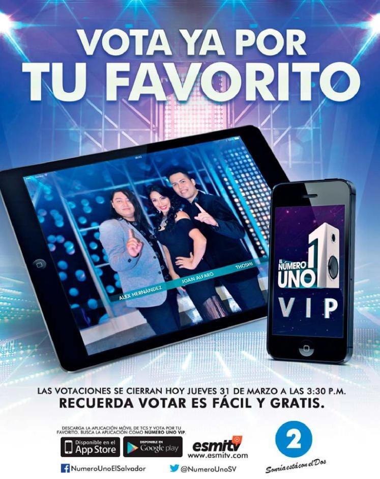 VOTA hoy mismo por tu favorito del numero uno vip 2016
