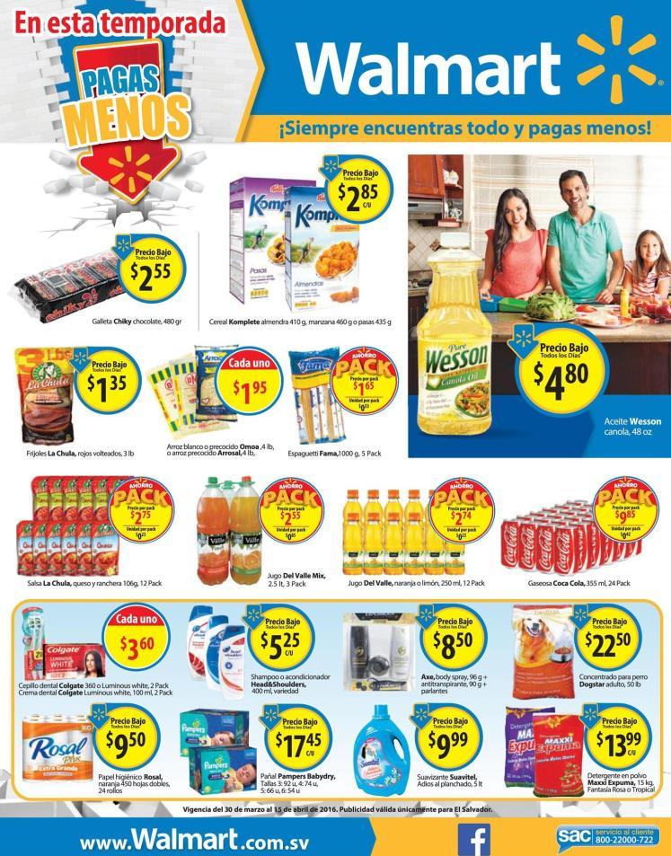WALMART productos de temporada en oferta
