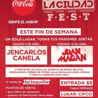 Coca Cola te invita a TOMATE LA CIUDAD FEST 2016
