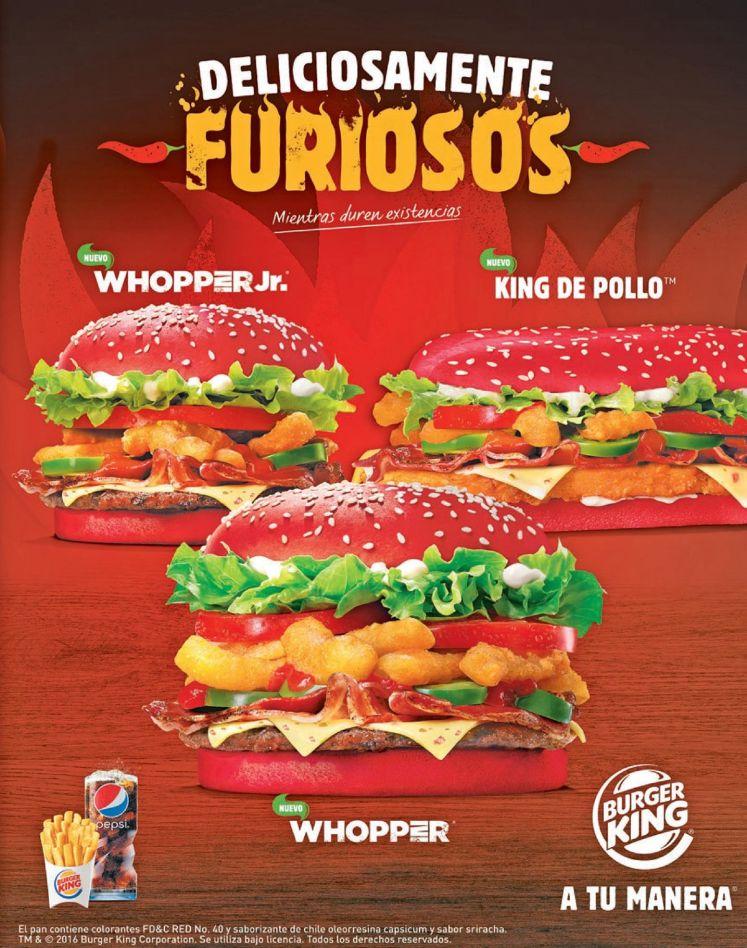 Conoce las 3 nuevas hamburguesas picantes de BURGER KING