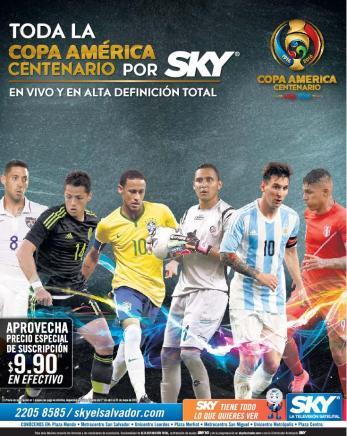 Copa america centenario 2016 en alta definicion via SKY