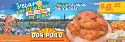 DON pollo promocion familiar para este finde semana