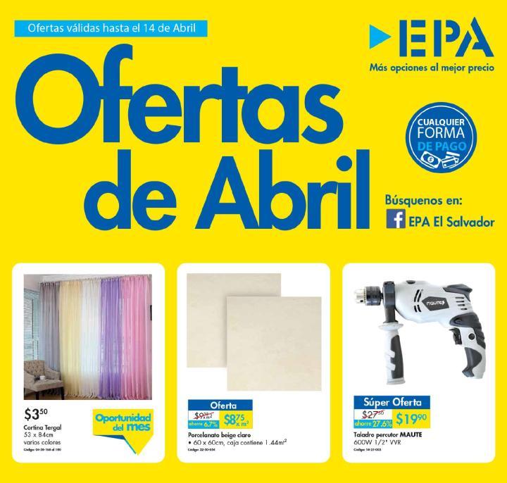 Ferreteria EPA Folleto con las ofertas de abril 2016