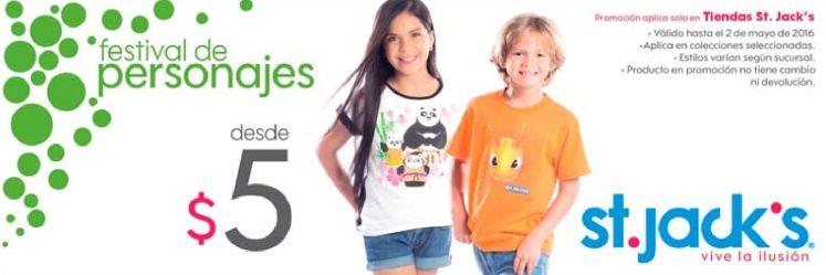 Festivald de camisas para ninos con personajes de peliculas