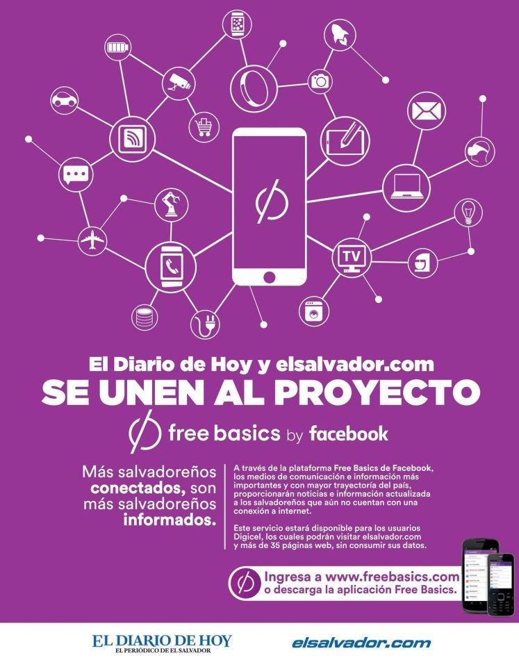 Free Basics by facebook disponible en el salvador
