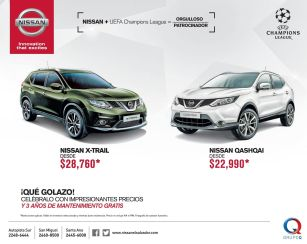 GOLAZO de la champion con NISSAN promotions car deals