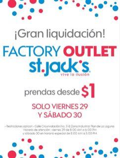 GRAN liquidacion factory oulet de tiendas st jacks - 29abr16