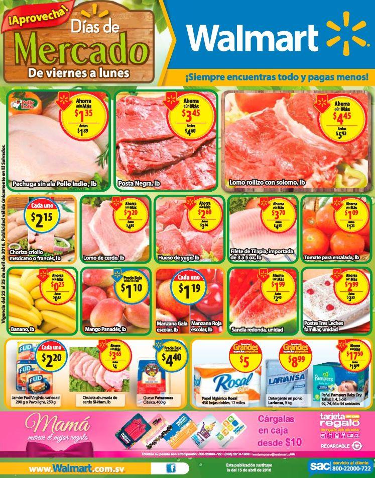 Grandes rebajas en las compras de mercado WALMART - 22abr16