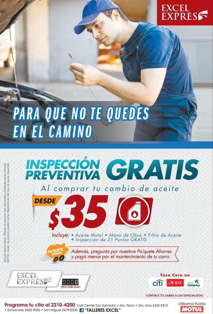 Inspeccion preventiva para tu auto gracias a EXCEL EXPRESS