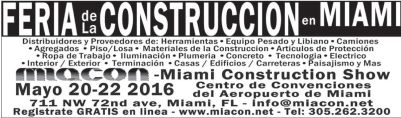 MIAMI construction show 2016 join us today
