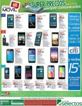 Mas de 15 celulares super rebajados en Super Selectos este fin de semana