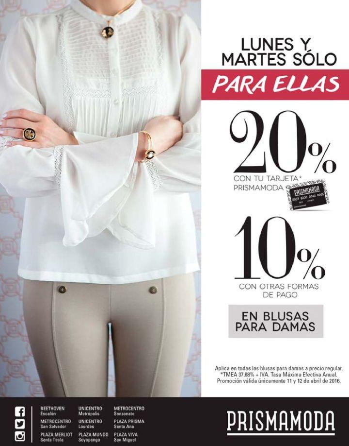 OJO chicas lunes y martes descuentos en blusas para damas - 11abr16