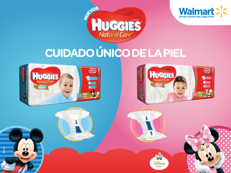 Productos WALMART Nuevos pampers HUGGIES natural care