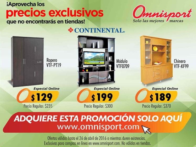 Promociones ONLINE en tienda OMNSPORT el salvador abril 2016