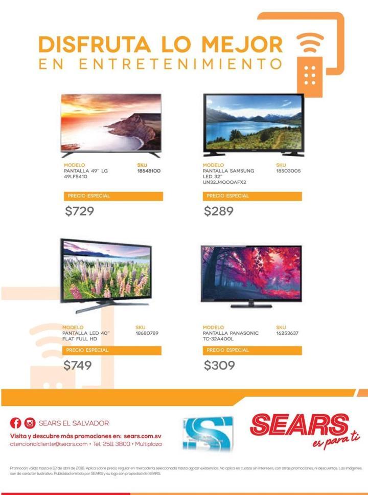 Promociones SEARS en productos de entretenimiento