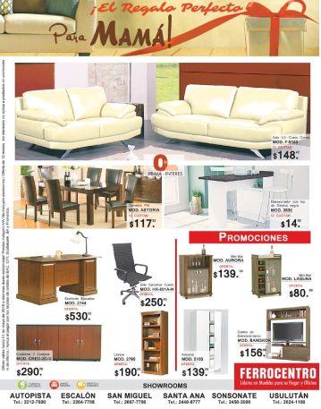 Promociones y regalos en muebles para mama gracias a FERROCENTRO