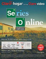 Series online ilimitadas CLARO video on demand service
