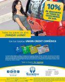 Todos los juves de abril 10 OFF en gasolina con UNION CREDIT COMEDICA