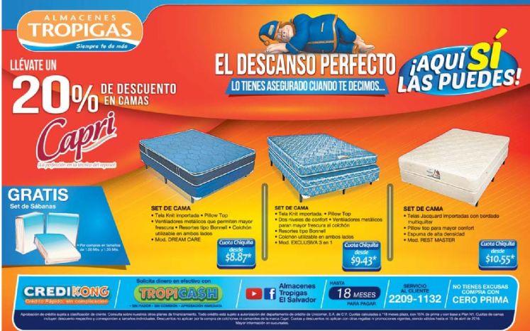 cambia la cama con este descuento en almacenes tropigas - 09abr16