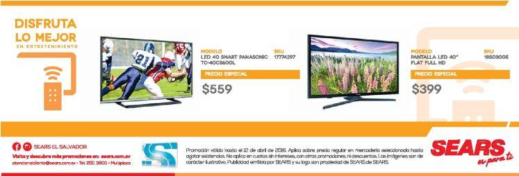 pantallas smart tv en promocion en almacenes SEARS