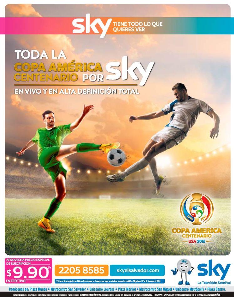 Copa America centenario 2016 sky tv satellite television
