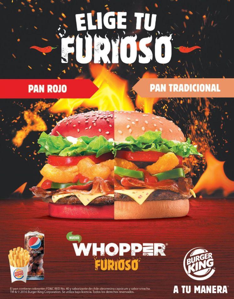 Cual pan prefieres en tu hambuerguesa FURIOSA del burger king