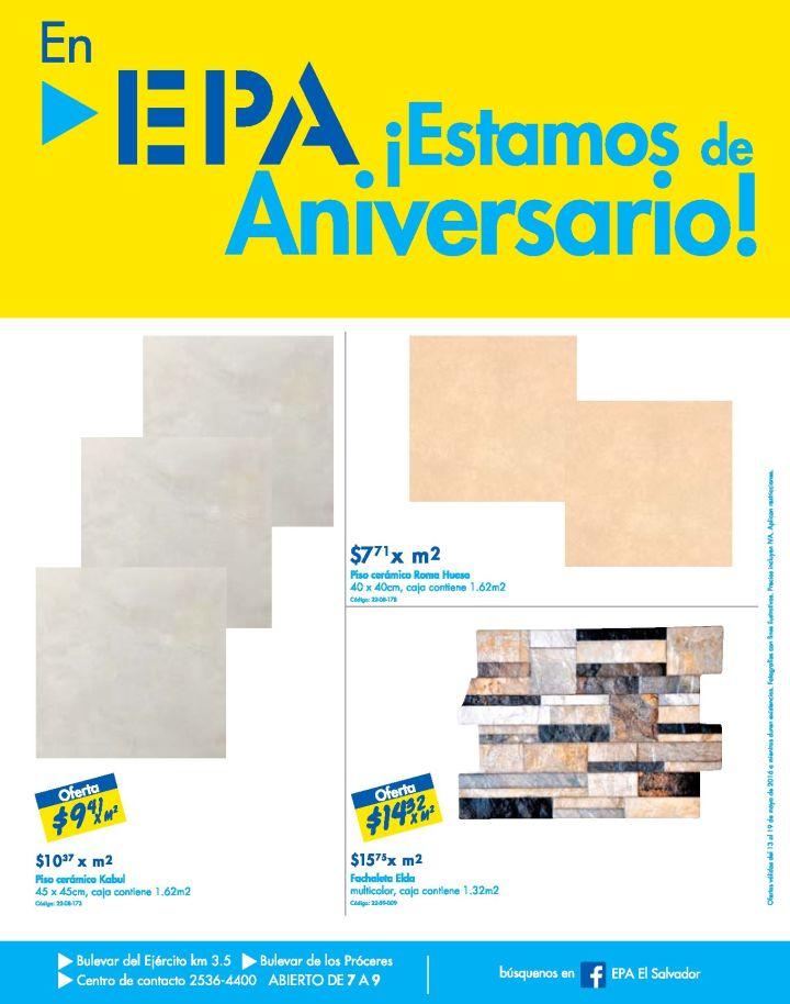 EPA esta de anirversario pisos ceramicos fachaletas porcelanatos y mas