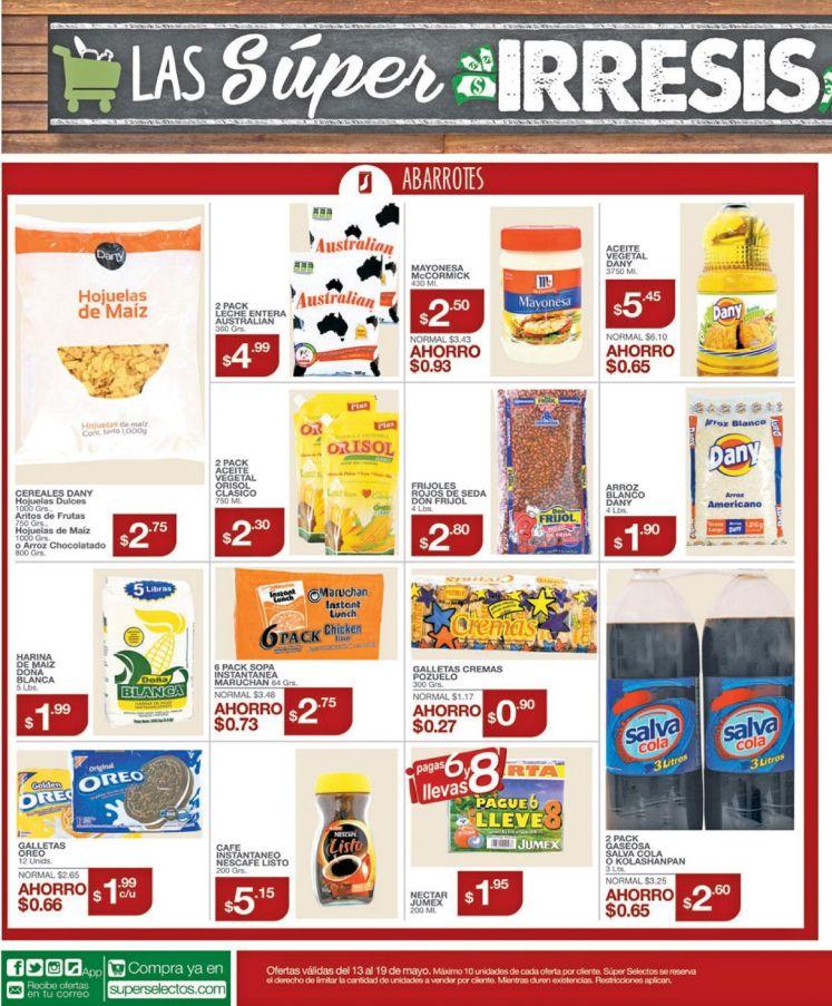 Estas son las ofertas super irresistibles de Super Selectos - 13may16