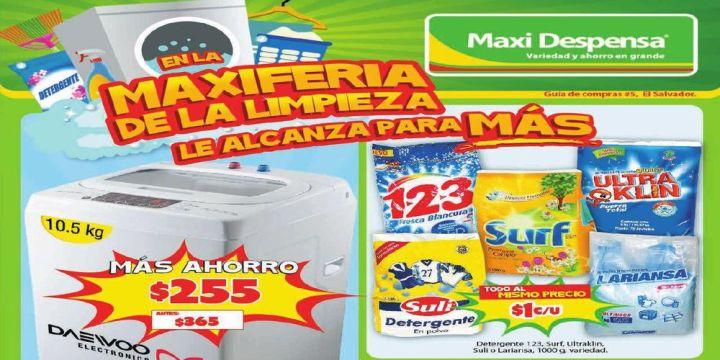 Feria de maxi limpieza gracias a supermercado MAXI Despensa