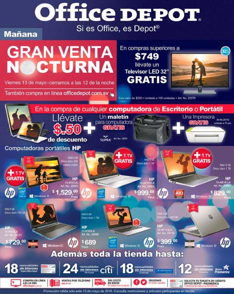 GRAN venta noctura de mayo gracias OFFICE DEPOT - 13may16