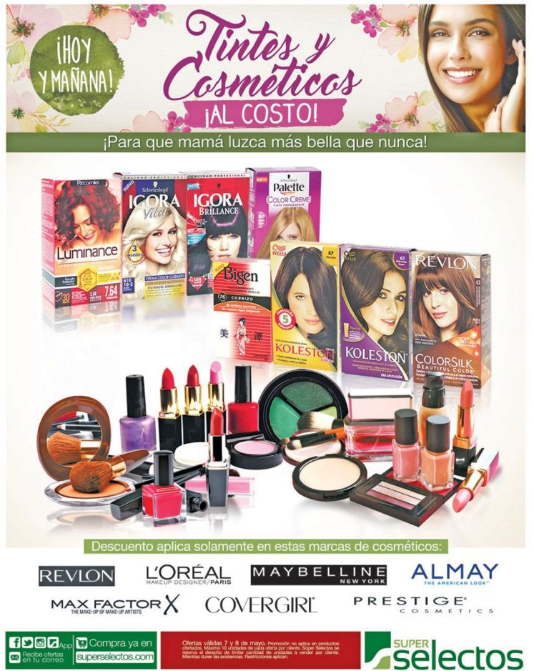 MakeUP and hairUP productos al costo Super Selectos - 07may16