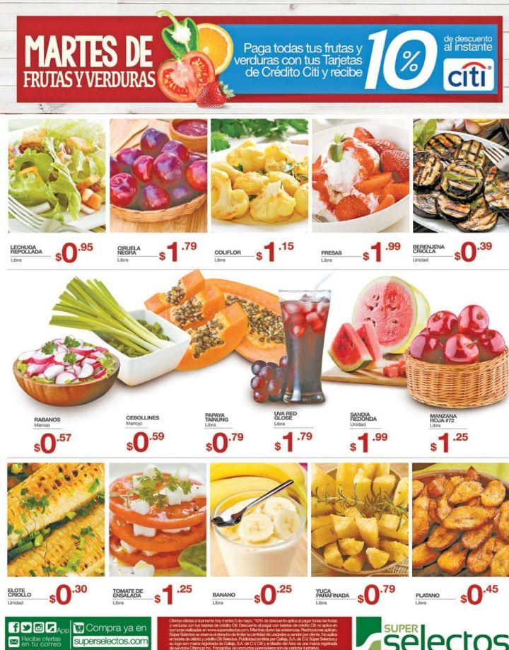 Mas de 15 opciones en frutas y verduras frescas Super Selectos - 03may16