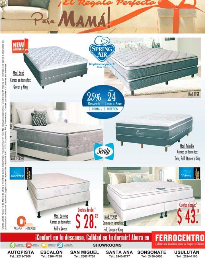 NO dejes pasar las promociones de camas en almacenes FERROCENTRO - 12may16