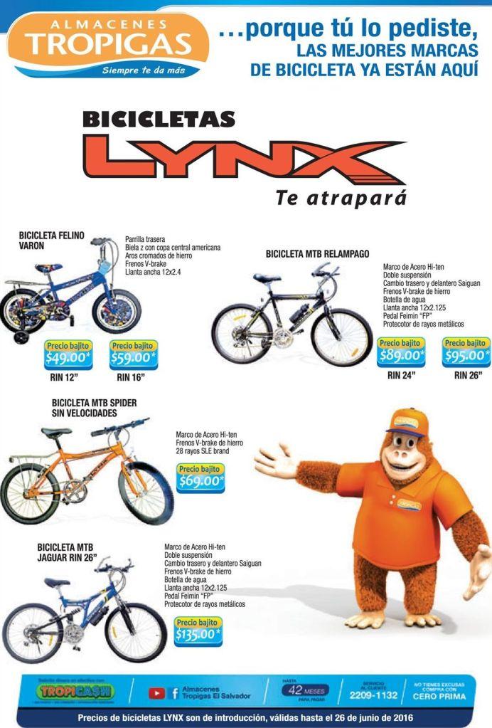 Nuevas ofertas en BICICLETAS Lynx gracias a almacenes tropigas
