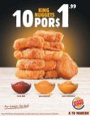 Nuevos KING NUGGETS 10 deliciosos de pollo con tu salsa preferida