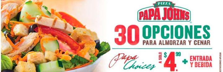 PIZZA papa johns muchas opciones por solo 4_99 de dolar