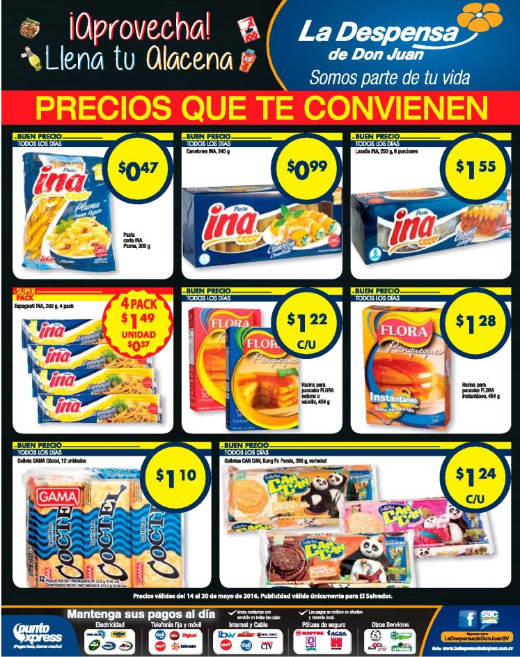 Pastas y galletas en ofertas la despensa de don juan - 14may16