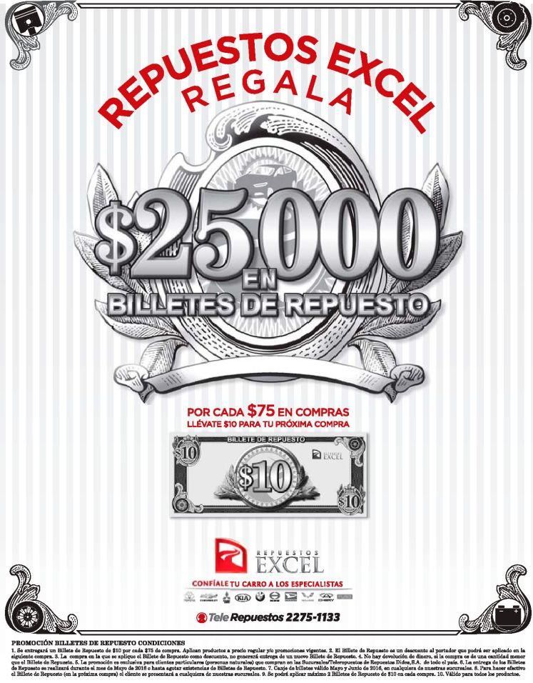 Regresa los billetes con dinero en efectivo de Repuestos EXCEL