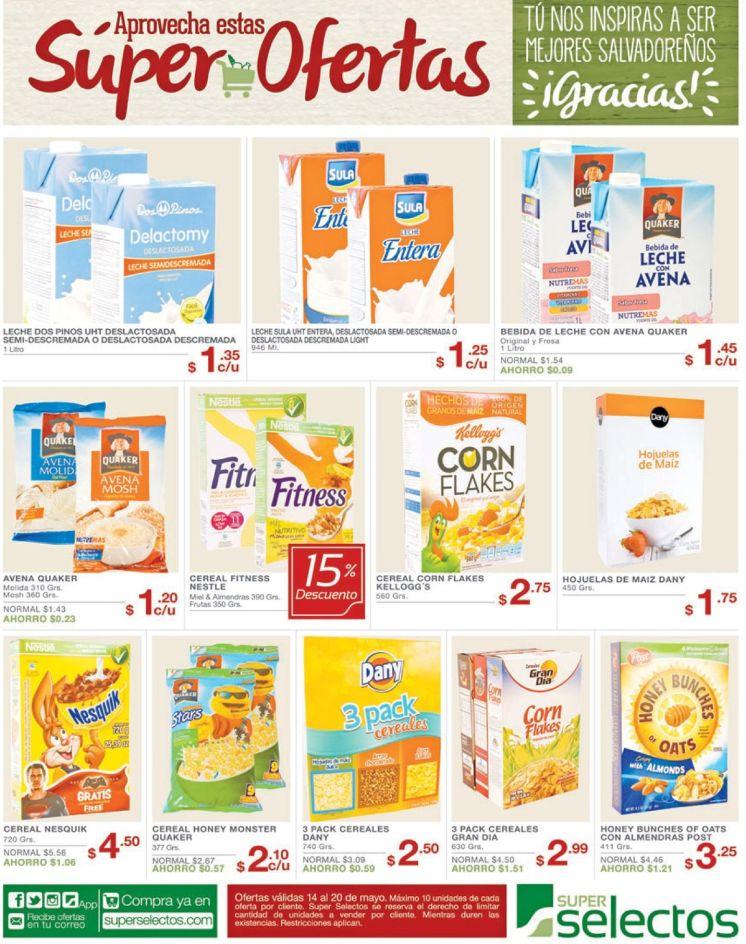 Super ofertas en leche y cereal gracias a Super Selectos