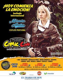 TODAY begin COMIC-CON 2016 el salvador