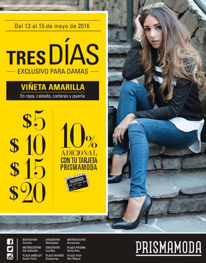 TRES dias exclusivos para damas fashion y de buen vestir