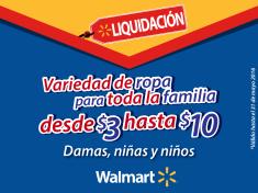 WALMART liquidacion de ropa para toda la familia hasta 31 de mayo 2016