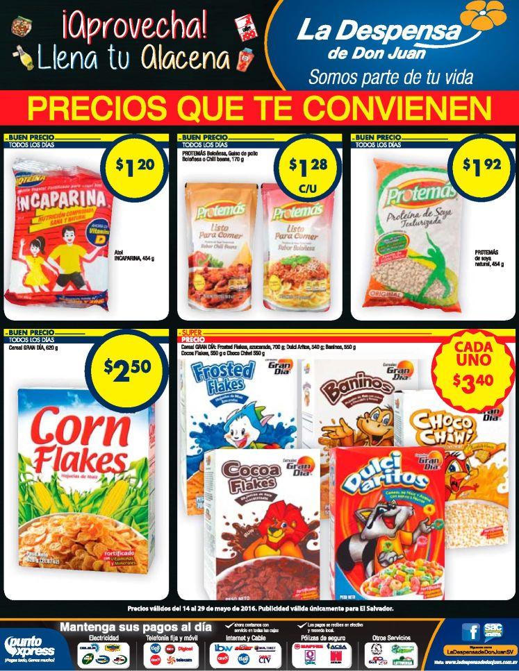 cereales y granolas con precios bajos la despensa de don juan
