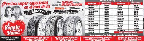 llantera panamericana IMPORTED TIRED full quality