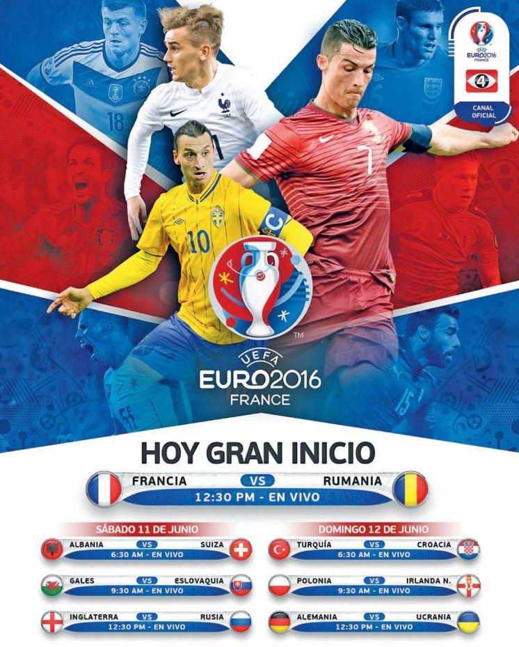 Ahora gran inicio de la EURO 2016 Francia partidos en vivo