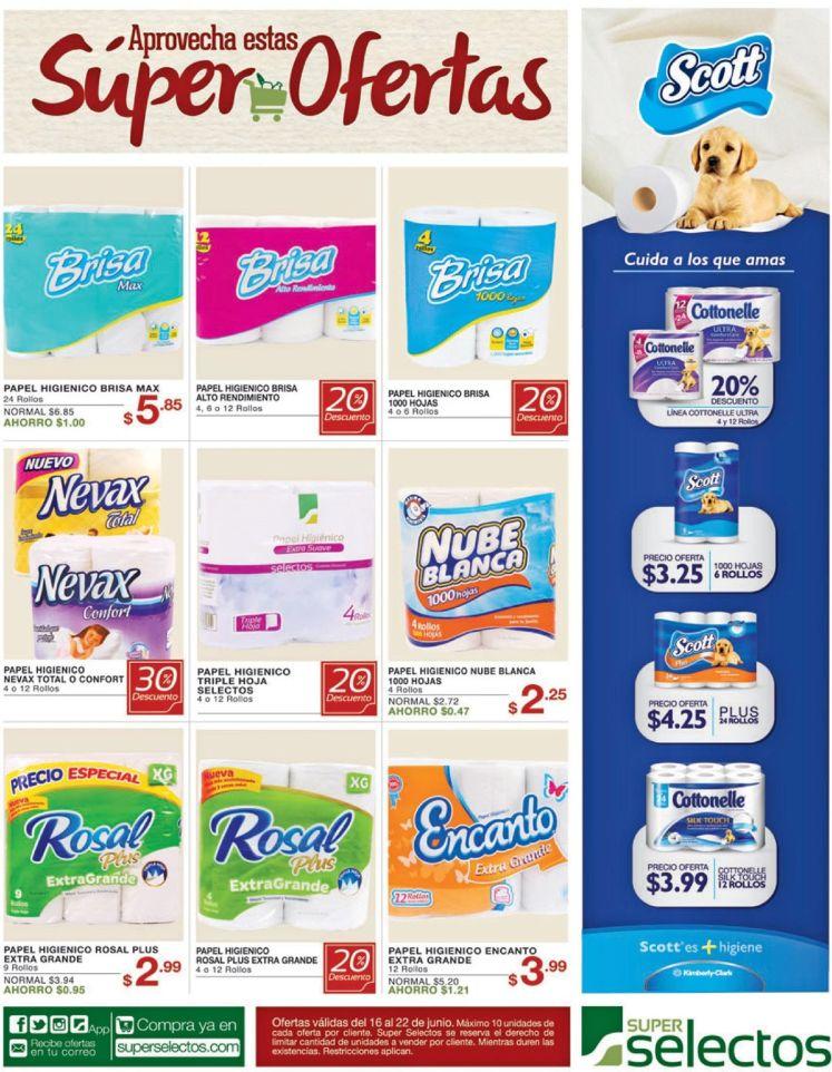 Descuento para comprar papel higienico en el selectos - 16jun16