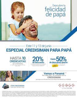FIN DE SEMANA especial para PAPAS con tarjetas CREDISIMAN